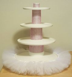 TUTU CUPCAKE TIER stand princess party by ColorfulTutuFun on Etsy