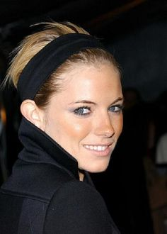 Sienna Miller is always on top of a flattering trend that suits her style. This season's Calvin Klein headband trend is a perfect match for her!