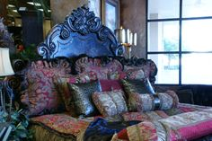 This bed & bedding are BEAUTIFUL!!! Available at Carter's Furniture Midland, Texas  432-682-2843  http://www.cartersfurnituremidland.com/
