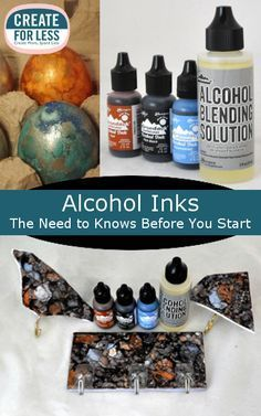 Tips for Using Alcohol Inks and Supplies Needed | CreateForLess.com Discount Craft Supplies