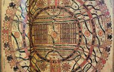 下の方に広がっているのは、地獄。須弥山世界、仏教の専売特許ではない。アジアの宗教世界、いずこにも表われる。アジアの宇宙観、すべて須弥世界。    これは、仏教とほぼ同じ時代におこったジャイナ教の須弥世界。<須弥山が、マンダラに似た円形世界の中心に座している>、と説明にある。