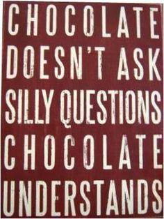 Chocolate, especially dark chocolate..