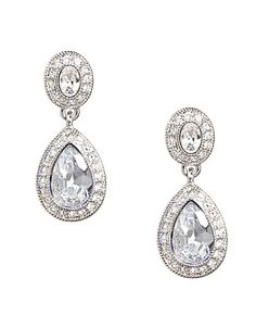 Pave Crystal Double Drop Earring