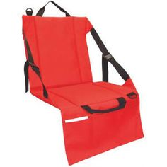 Computer Chair Seat Cushion folding stadium seat cushion converts to a tote bag and includes a