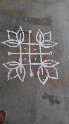 Rangoli Small Rangoli Design, Rangoli Designs Diwali, Diwali Rangoli, Beautiful Rangoli Designs, Kolam Designs, Mehandi Designs, Kolam Dots, Kolam Rangoli, Rangoli With Dots