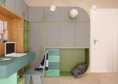 Concept Architecture, Kids Furniture, Girls Bedroom, Desk, Cabinet, Interior Design, Storage, Children, Home Decor
