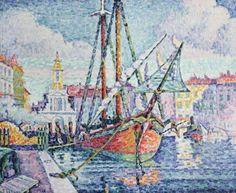 Le Port, huile de Paul Signac (1863-1935, France)