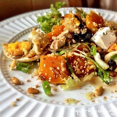 Quinoa salad - I often make a variation on this simple, tasty and healthy meal.