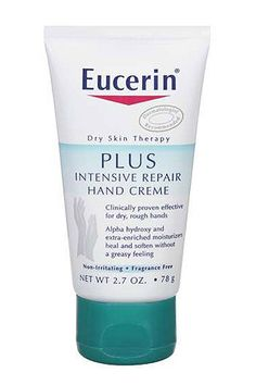 Must-Have Lotion To Keep Cracked Hands Far, Far Away - Eucerin Intensive Repair Hand Crème, $5.49, available at Eucerin.