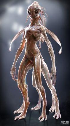Female alien concept art science fiction 25 ideas for 2019 Humanoid Creatures, Alien Creatures, Magical Creatures, Fantasy Creatures, Alien Concept Art, Creature Concept Art, Creature 3d, Creature Design, Falling Skies
