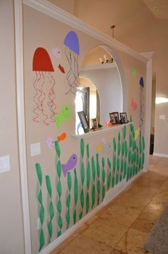 Charming Under-The-Sea Decorating Ideas Kids Would Love Little Mermaid Birthday, Little Mermaid Parties, Under The Sea Party, Under The Sea Theme, 6th Birthday Parties, Birthday Party Decorations, 4th Birthday, Birthday Ideas, Under The Sea Decorations