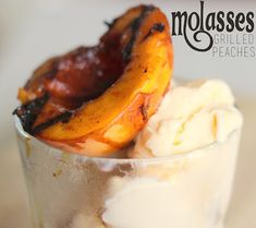 Molasses Grilled Peaches are definitely my new go-to summer dessert!  Such amazing flavors- I served them with vanilla ice cream.  @allrecipes