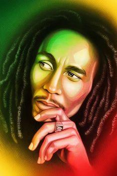 Bob Marley by Vitali-Iakovlev on DeviantArt Bob Marley Desenho, Bob Marley Kunst, Bob Marley Art, Reggae Bob Marley, Fotos Do Bob Marley, Bob Marley Painting, Rasta Art, Rasta Lion, Reggae Art