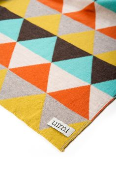 Not a quilt, but great pattern and colours for one. by Uimi,- Indiana Blanket 100% Merino Wool uimi.com.au