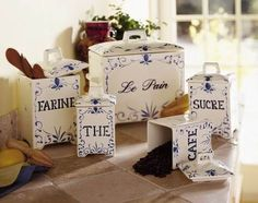 Charles Faudree Country French | French Country Kitchen Canister Set