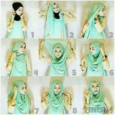 Easy Stylish Chest Coverage Hijab Tutorial - Hijab Fashion Inspiration This is . Easy Stylish Chest Coverage Hijab Tutorial – Hijab Fashion Inspiration This is … Easy Stylish Islamic Fashion, Muslim Fashion, Hijab Dress, Hijab Outfit, Hijabs, Hijab Mode Inspiration, Hijab Simple, How To Wear Hijab, Hijab Wear