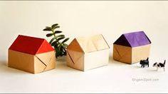 house origami – RechercheGoogle Diy Origami, Origami Yoda, Origami Dragon, How To Make Origami, Paper Crafts Origami, Useful Origami, Origami Tree, Origami Heart, Origami Instructions