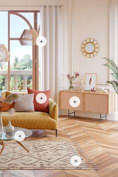 Decor, Farmhouse Decor Living Room, Farm House Living Room, Chic Living Room Decor, Interior, Salon Interior Design, Decor Inspiration, Home Decor, Interior Design