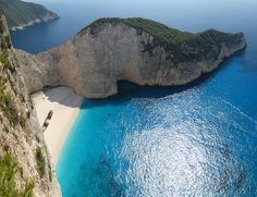 Zakynthos Island, Greece. Beautiful! Maybe we'll take the yacht there, baaaahhh!!!!