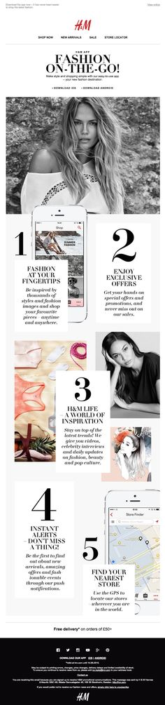 H&M Fashion News - The H&M app – your new fashion destination! #newsletter #H&M