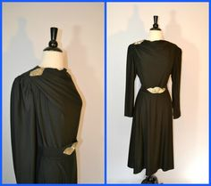 1970s Black Cocktail Formal Dress by KrisVintageClothing on Etsy