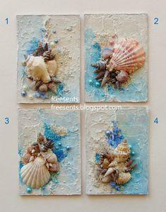 Best 12 Beach Decor of Seashell Art, Beach Bathroom Decor Wall Hanging, Coastal Wall Art of Shells on Glass, Coastal Decor of Seashell Glass Art by on Etsy by lucia – SkillOfKing. Seashell Art, Seashell Crafts, Seashell Decorations, Wedding Decorations, Craft Decorations, Seashell Painting, Stone Painting, Painting Art, Paintings