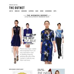 The outnet - (UK) Oh so blue! Dresses & more at up to 65% off   Plus off-duty essentials