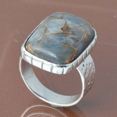 925 SOLID STERLING SILVER OPAL COPPER TURQUOISE RING 7.49g DJR6832 #Handmade #Ring