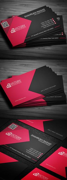 Corporate Business Card #businesscards #printready #psdtemplates