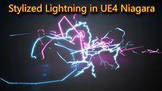 UE4 Niagara Stylized Lightning | Files on Patreon Game Engine, Lightning, Neon Signs, Movie Posters, Game Motor, Film Poster, Popcorn Posters, Film Posters, Lighting