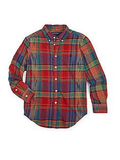 Ralph Lauren Toddler's & Little Boy's Blake Plaid Shirt