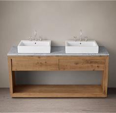 mueble de baño de roble