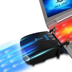 KLIM Tornado Laptop-Kühler - NEU + INNOVATIV - Schnelle Kühlung - klein + geringes Gewicht + leistungsstark + wirksam gegen die Überhitzung - USB Warmluft-Abzug  EUR 29,90