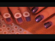 Half moon manicure tutorial (using self-adhesive reinforcement labels you can find in any office supply section/store for cheap!)