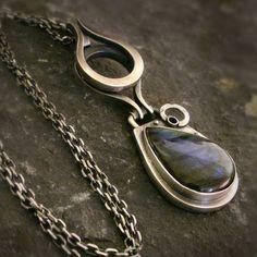 Labradorite Drop Pendant - product images of Silver Chamber Jewellery #silverpendant #pendant #silverjewellery #jewellery #jewellerystore #jewelleryboutique #handmadejewellery #uniquejewellery #gifts