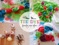 DIY: Tie Dye T-shirts with Kids (Spiral, Polka Dots, Stripes) | Family Ever After...