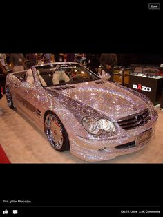 pink glitter mercedes! yes please @Andrea Guilfoos
