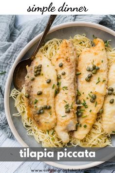 This quick and easy fish piccata recipe is one you will turn to time and again. The fish cooks in just minutes and the sauce cooks in the same pan. It's quick, it's easy and it's a real crowd pleaser. #fishpiccata #simpledinner Easy Fish Recipes, Baby Food Recipes, Fish Piccata Recipe, Food Terms, One Pan Pasta, How To Make Fish, 15 Minute Meals, Chicken Piccata, Homemade Baby Foods