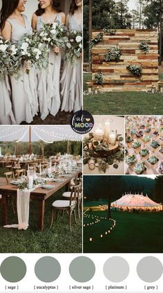 wedding themes Green Sage Eucalyptus and Grey Wedding Color Palette For Spring Wedding 1 - Fab Mood Wedding Color Pallet, Neutral Wedding Colors, Spring Wedding Colors, Wedding Color Schemes, Wedding Color Palettes, Grey Wedding Theme, October Wedding Colors, Spring Colors, Wedding Themes For Summer