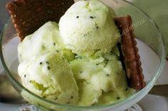 Inghetata de kiwi Kiwi, Parfait, Sorbet, Food And Drink, Ice Cream, Homemade, Cooking, Desserts, Scream