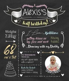 Alexis's 6 Months Old Info Board