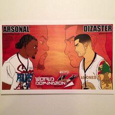 Arsonal Vs Dizaster Rap, Battle, Baseball Cards, Wraps, Rap Music