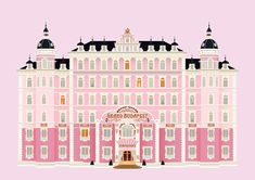 The Grand Budapest Hotel Illustration on Behance Hotel Games, Grafic Art, Wes Anderson Movies, Gran Hotel, Grand Budapest Hotel, Bullet Journal Art, Diy Phone Case, Graphic Design Illustration, Hungary