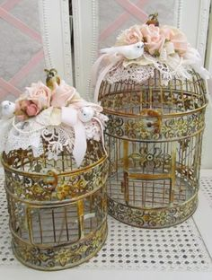 Beautiful cages/ nice for placing around different tables.