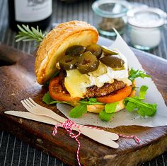 Beef Burger with Brie & Figs | The Food Fox