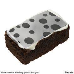 Black Dots On Blending Rectangular Brownie