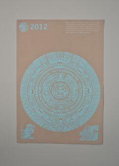 Mayan Calendar 2012 by Giannis Xoulakis, via Behance