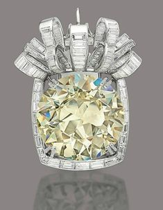 67.54-carat fancy yellow diamond brooch/pendant, via Christie's