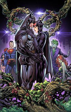 Batman & Catwoman by Ken Lashley Catwoman Y Batman, Catwoman Cosplay, Batgirl, Dc Comics Art, Marvel Dc Comics, Marvel Heroes, Batman Artwork, Batman Comic Art, Batman Wallpaper