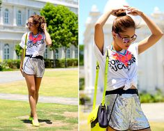 Bubbles Necklace, Pinky Toes Flats, She Inside Top, She Inside Shorts, Marc By Marc Jacobs Bag, Sunski Sunnies